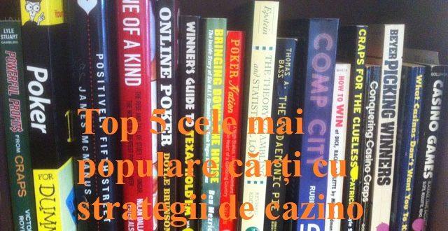 Top 5 cele mai populare cărți cu strategii de cazino